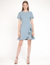 Sleeved Dress With Flouncy Hem