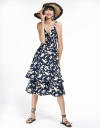 Floral Dress With Layered Hem