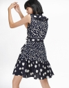 Wrap Printed Dress With Ruffled Detail