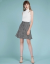 Tweed Skirt With Flouncy Hem