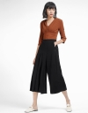 Pleated Culottes With Pockets
