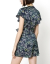 Floral Romper With Lace-Trimmed Detail