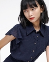 Jacquard Top With Smocked Detail