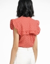 Jacquard Top With Tied Neck