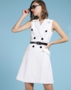 A-Line Dress With Button Detailing