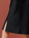 Side-Vent Skirt With Elasticated Waist