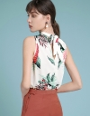 Printed Blouse With Tied Back