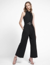 Wide-Leg Jumpsuit With Belt