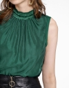 Sleeveless Blouse With Tassel Detail