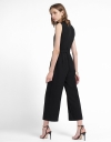 V-Neck Jumpsuit With Button Front