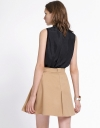 Mid-Rise Belted Skirt