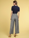 Checked Wide-Leg Trousers With Pockets