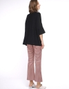 Houndstooth Wide-Leg Pants