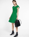 Ruffled Knit Dress With Flouncy Hem