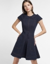 Denim Dress With Folded Detail
