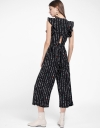 Printed Jumpsuit With Cut-Out Back