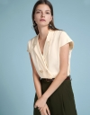 Capped Sleeved Shirt Blouse