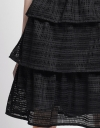 Mesh-Trimmed Dress With Cascading Layer
