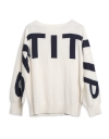 Crew Neck Printed Sweater