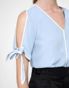 Sleeved Blouse With Tied Detail
