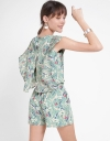 Printed Romper With Elasticated Waist