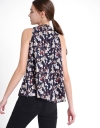 Printed Top With Tied Neckline