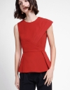 Sleeveless Top With Pleated Detail