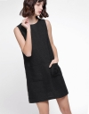 Shift Tweed Dress With Pockets