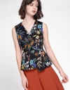 V-Neck Floral Printed Top