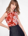 Floral Printed Top With Ruffles