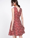 Sleeveless Abstract Printed A-Line Dress