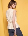 Sleeveless Jacquard Top With Side Buttons