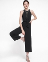 Wide-Leg Jumpsuit With Tied Front