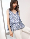 Sleeveless Floral Printed Blouse