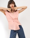 Capped Sleeved Blouse With Twisted Front