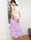 Cascading Layered Pleated Skirt