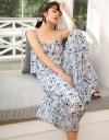 Strappy Floral Printed Pleated Jumpsuit