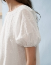 Sleeved Embroidered Shift Dress