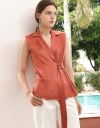 Belted Top With Wrap Front