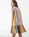 Multicolored Striped Shift Dress