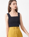 Strappy Panelled Knit Top