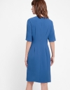 Sleeved Midi Dress With Layered Detail