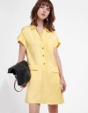 Capped Sleeved Shirt Dress