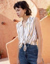 Stripe Top With Ruffled Detail