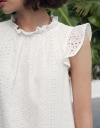 Ruffled Embroidered Shift Dress