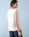 Sleeveless Top With Gathered Front