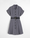Checked Shirt Dress