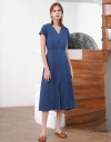 Capped Sleeved Midi Dress