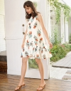 Floral Shift Dress With Tied Back