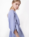 Wrap Front Puff Sleeve Top